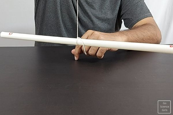 Tie Thread In The Middle Part Of PVC Pipe
