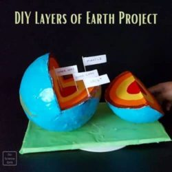 DIY 3D Model of Earth Layers Using Recycled Materials