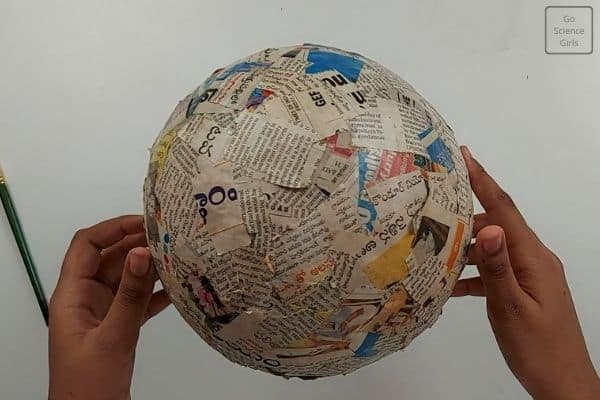 cover the ball with newspaper