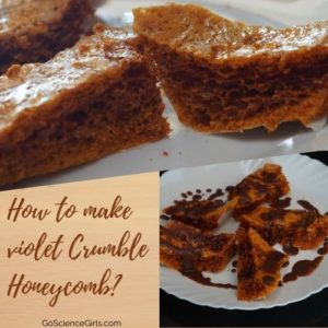 How to make violet Crumble Honeycomb
