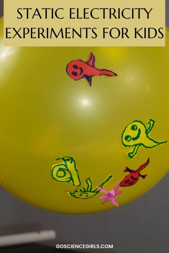 static electricity experiments for kids - Dancing Ghosts