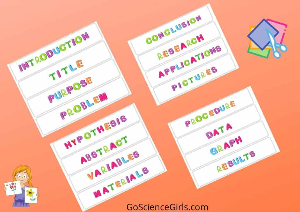 Science Fair Project Labels - Funny Font