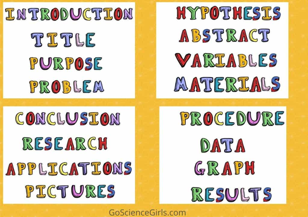 Science Fair Project Labels  - Funny Kids Font