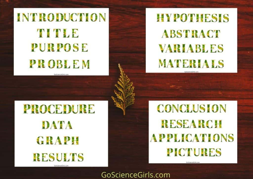 Science Fair Project Labels - Nature / Leaf Themed