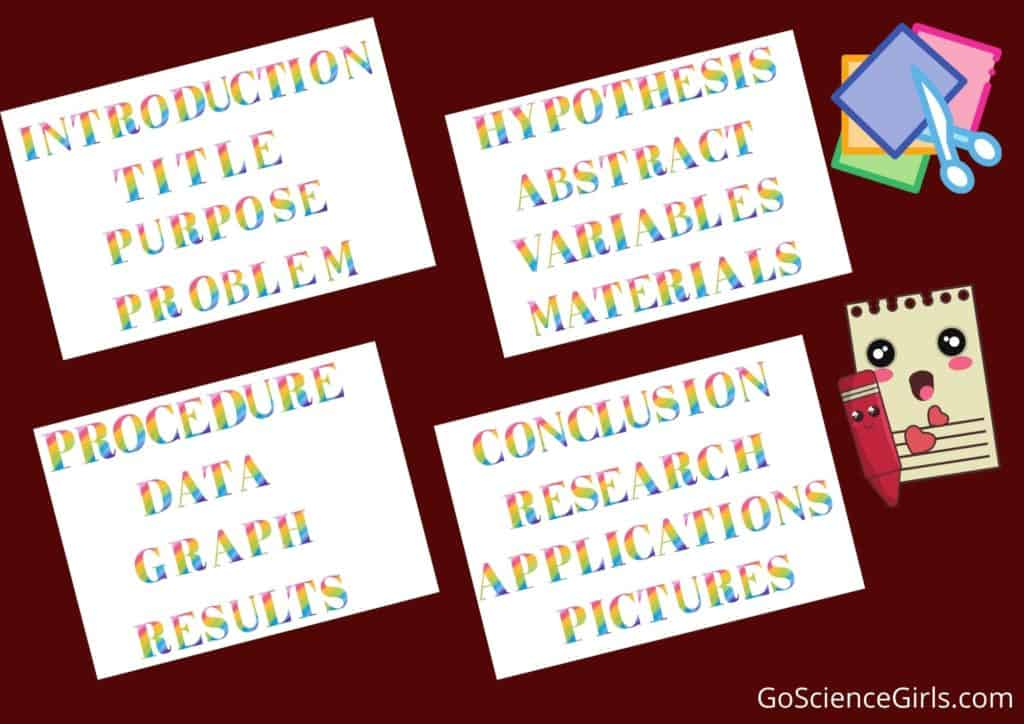 Science Fair Project Labels - Free Download